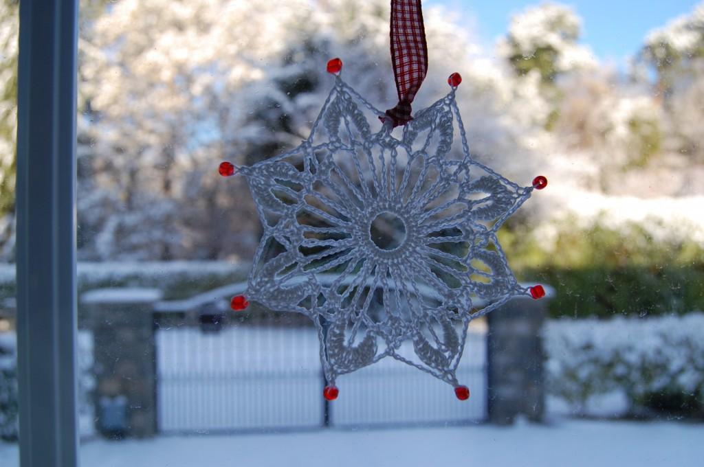 Christmas crochet snow flakes