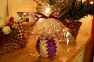 Satin ribbon bauble Christmas gift