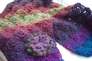 Crochet scarf Catherine's Wheel