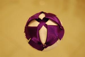 Christmas satin ribbon bauble