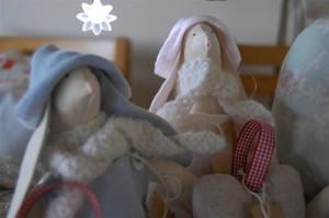 Tilda bunnies for charity table