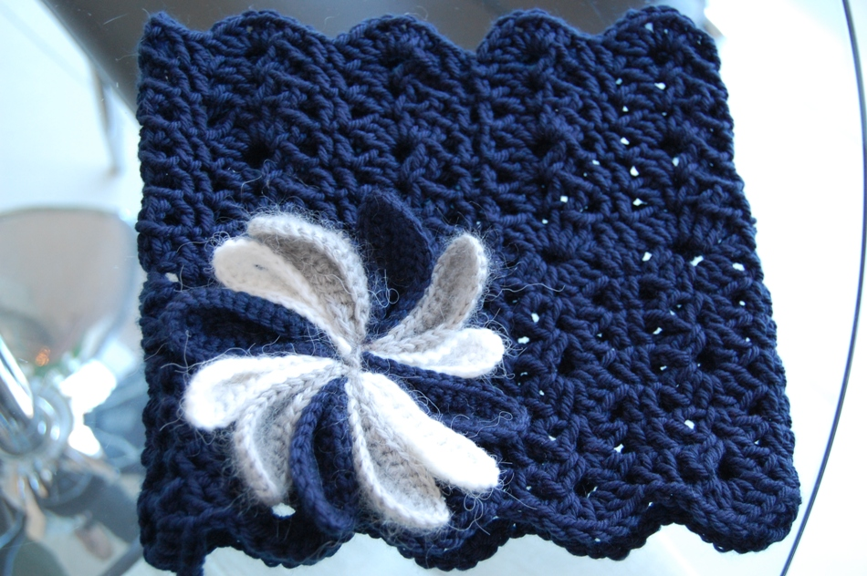 Crochet scarf and cowl