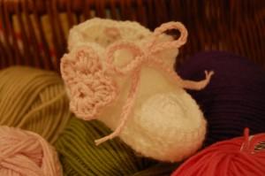 Baby bootee crochet
