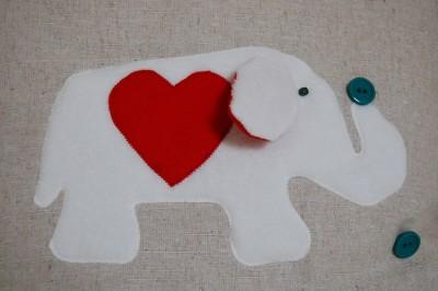 Elephant patchwork pillow