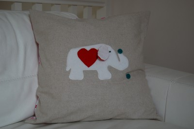 Elephant pillow front