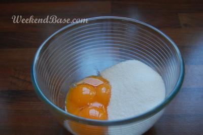 Fresh fruit tart -pastry cream -  eggs and sugar