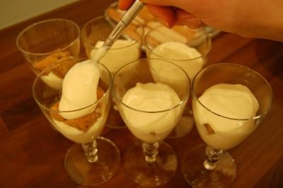 Tiramisu - Layers of cream and biscuits