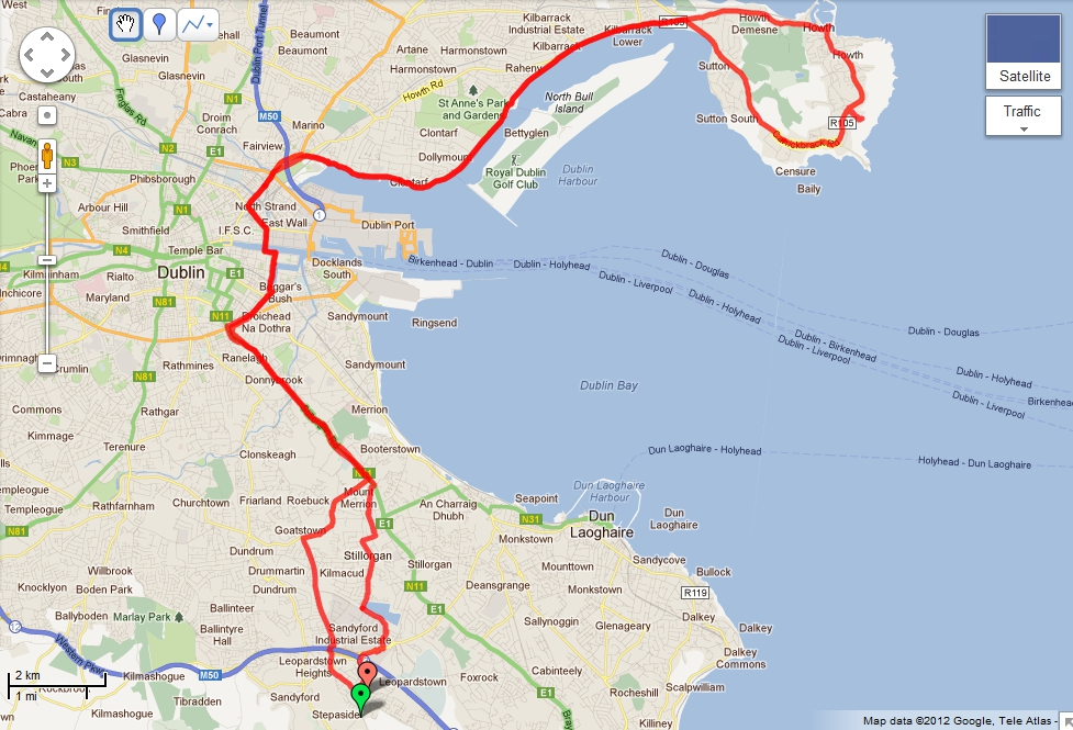 Cycling to Howth