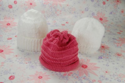 knitting hats for baby girl
