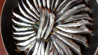 Anchovies with Bay Leaf